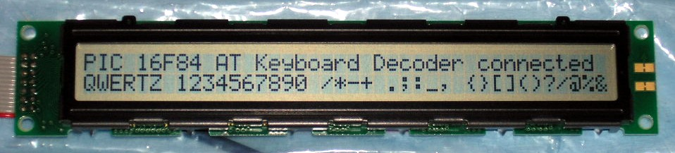 AT Keyboard Interface V2 04 for Microchip PIC16F84 Microcontroller
